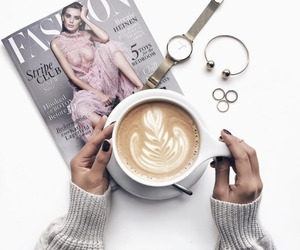 coffee, drink, and magazine image