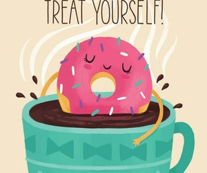 donuts, cute, and coffee image