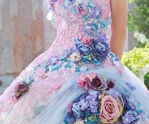 3d, flores, and vestido image