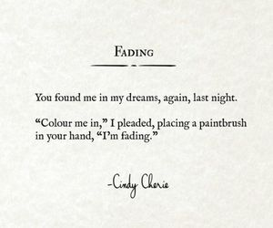 fade, fading, and poems image