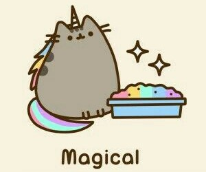 magical, rainbow, and pusheen image