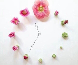 flowers and clock image