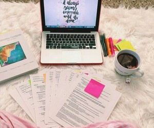 study, school, and bed image