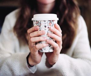 coffee, girl, and analog image