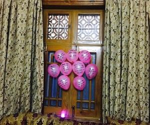 balloons, boho, and lights image