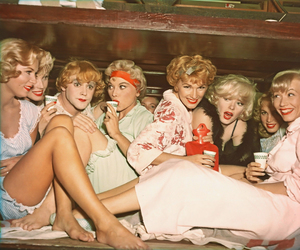 Marilyn Monroe, some like it hot, and vintage image