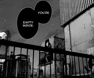 manga, quotes, and black and white image