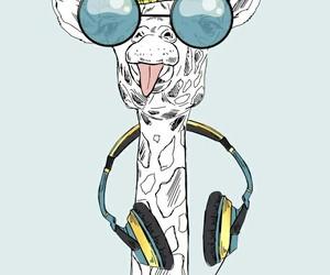 animal, background, and giraffe image