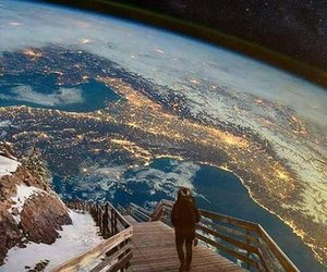 world, earth, and art image