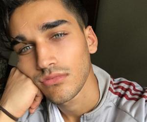 green eyes, hot boys, and eyes eyebrows brows image