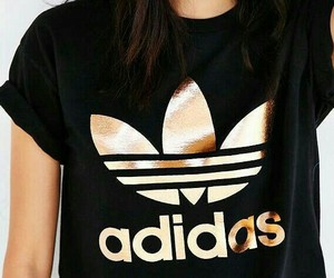 adidas, gold, and black image