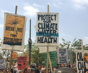climate change, protest, and theme image