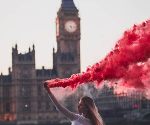 girl, london, and red image