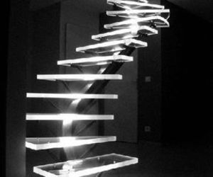 glow, black, and stairs image