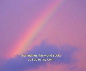 alternative, quotes, and rainbow image
