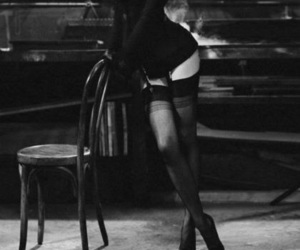 sexy, black and white, and legs image