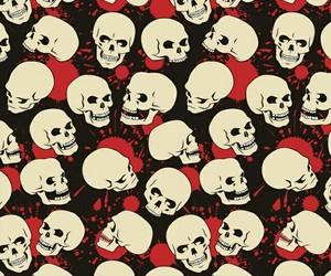 skulls - red - wallpaper image