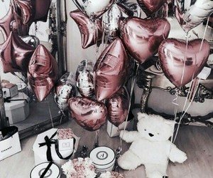beautiful, ballons, and white image