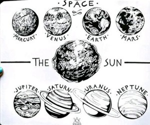 space, art, and planet image