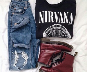 fashion, nirvana, and outfit image