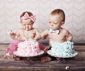 baby, birthday, and blue image