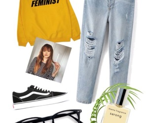 jeans, Polyvore, and outfits image