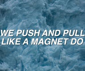 aesthetic, blue, and Lyrics image