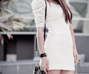 dress, white, and bag image