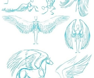 wings, art, and drawing image