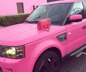 pink, car, and chanel image