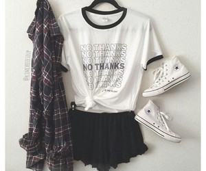 outfit, converse, and tumblr image