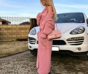 pink, car, and fashion image
