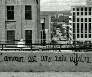 love, black and white, and amour image
