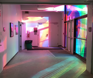 aesthetic, colors, and holographic image