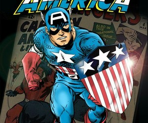 Avengers, marvel comics, and captain america image
