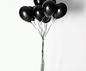 balloon, black, and weheartit image