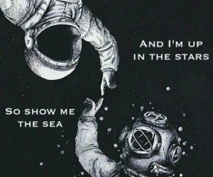 astronaut, galaxy, and phrase image