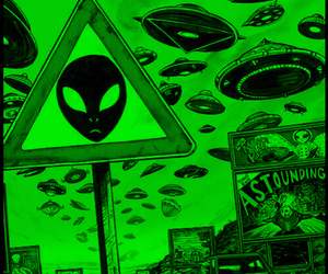 alien, wallpaper, and grunge image