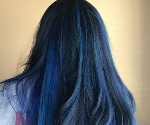 blue hair, colored hair, and new style image