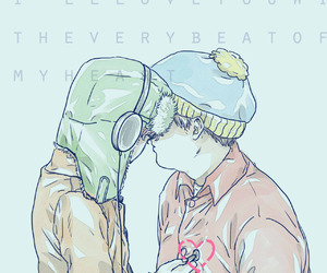 eric cartman, South park, and kyle broflovski image