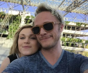 david anders, the 100, and eliza taylor image