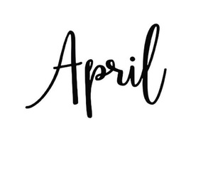 april, hello april, and months image