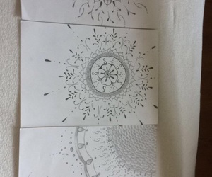 black-white, drawing, and henna image