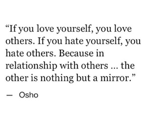 mirror, osho, and love image