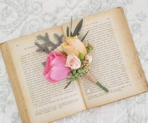 books, pink, and spring image