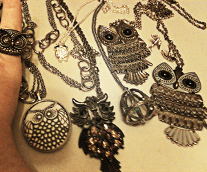 necklace and owls image