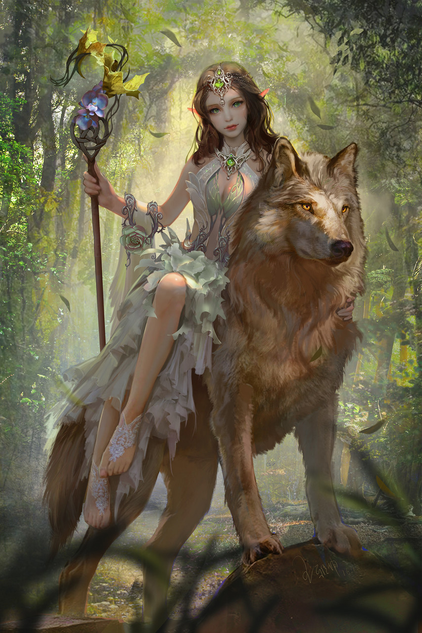 fantasy, art, and girl image
