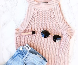 moda, pink, and style image