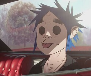2d, gorillaz, and gothic image