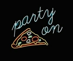 wallpaper, pizza, and party image